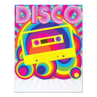 Disco Party Personalized Announcements