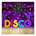 """DISCO Party - SRF 5.25"""" Square Invitation Card"""