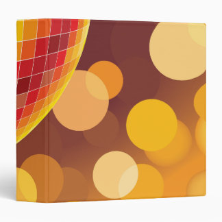 Disco Party Time Golden Lights 3 Ring Binders