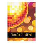 Disco Party Time Golden Lights Custom Invitation