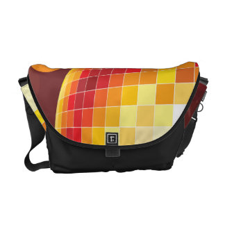 Disco Party Time Golden Lights Messenger Bag