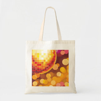 Disco Party Time Golden Lights Tote Bag