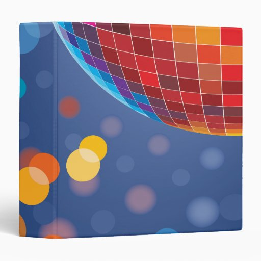 Disco Party Time Rainbow Lights Binders