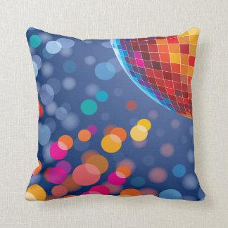 Disco Party Time Rainbow Lights Throw Pillow