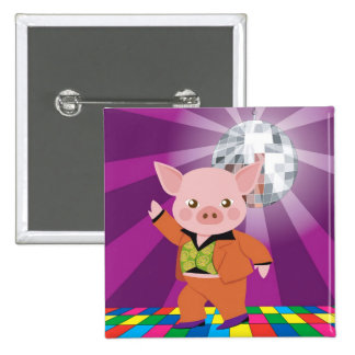 disco pig on the dance floor button