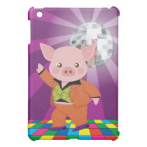 disco pig on the dance floor iPad mini cover