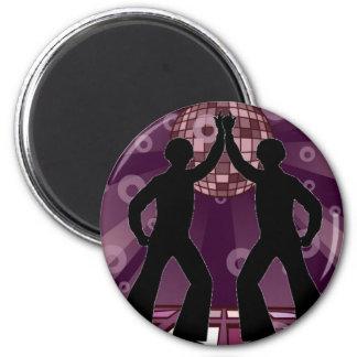 Disco púrpura (individuos) imán redondo 5 cm