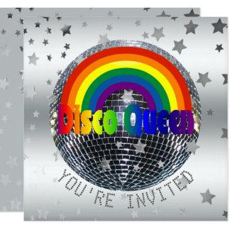Disco Queen Dance Birthday Party | 70s Disco Ball Card