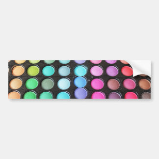 Disco Rainbow Makeup Palette Polka Dots Bumper Sticker