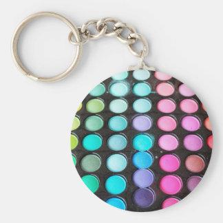 Disco Rainbow Makeup Palette Polka Dots Keychain