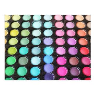 Disco Rainbow Makeup Palette Polka Dots Postcard