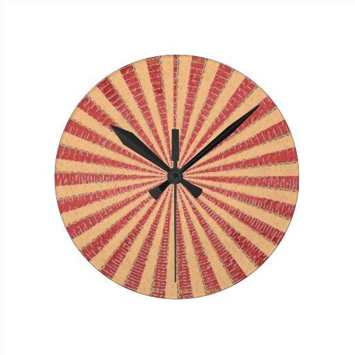 Disco rojo del diseñador del oro de Art101 n Reloj Redondo Mediano