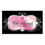 Disco rosado pródigo 311 con negro de los labios tarjetas de visita
