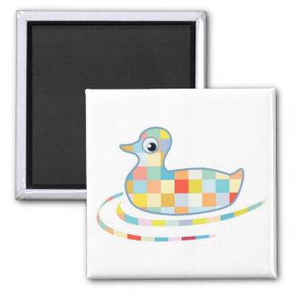 Disco Rubber Ducky 2 Inch Square Magnet