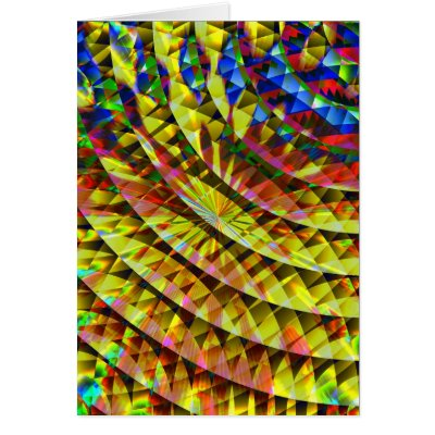 Disco Shine Psychedelic Card card