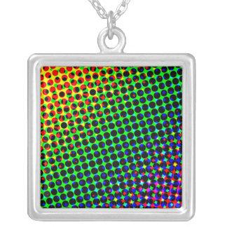Disco Square Pendant Necklace