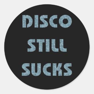 Disco Still Sucks Classic Round Sticker