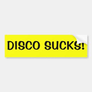 DISCO SUCKS! CAR BUMPER STICKER