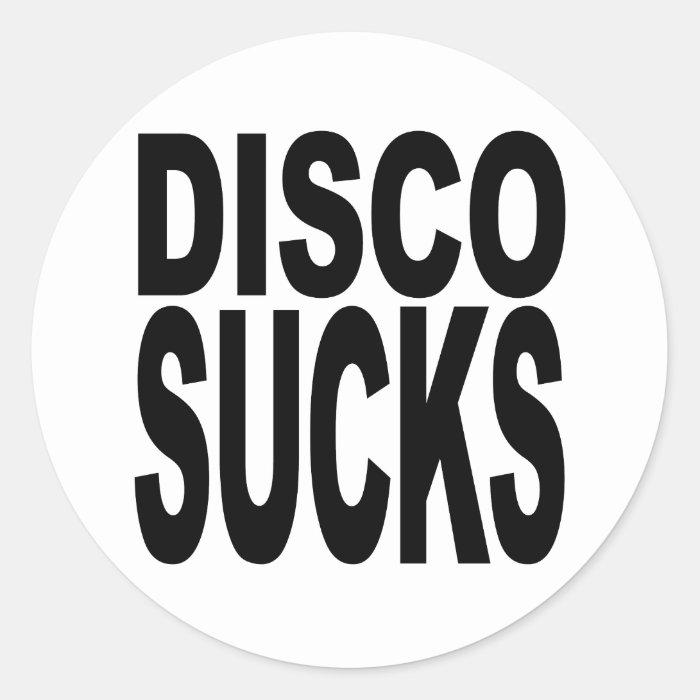 Disco Sucks Classic Round Sticker