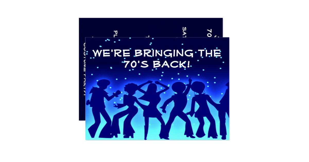 Disco theme 7039s party invitations zazzle for 70 s wedding invitations