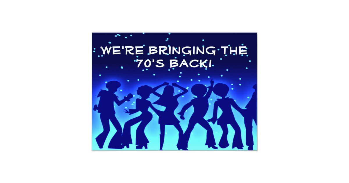 Disco Theme 70\'s Party Invitations | Zazzle.com