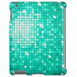 Disco Tiles Aqua iPad case
