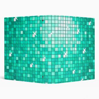 Disco Tiles Aqua ring binder