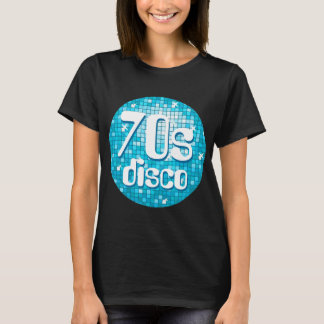 Disco Tiles Blue '70s Disco' t-shirt black