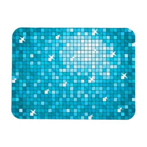 Disco Tiles Blue premium magnet