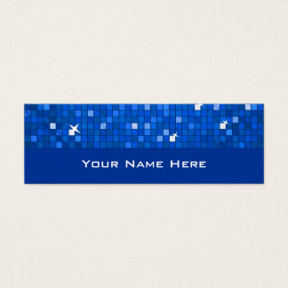 Disco Tiles Dark Blue business card skinny