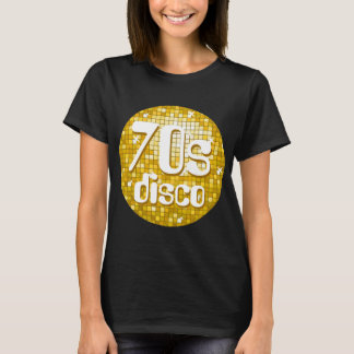 "Disco Tiles ""Gold"" '70s Disco' t-shirt black"