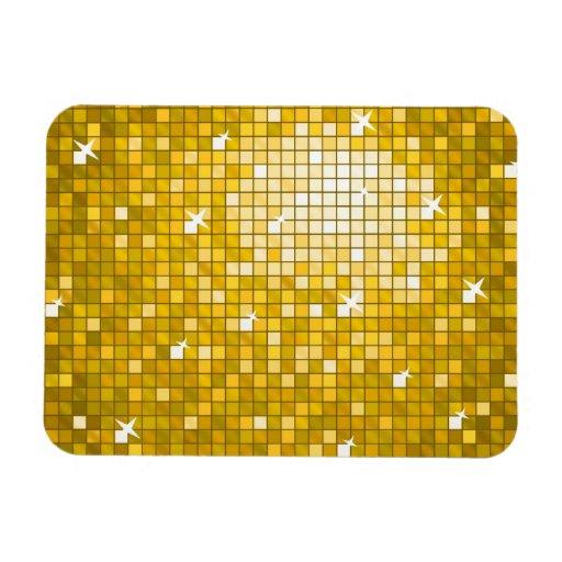 "Disco Tiles ""Gold"" premium magnet Vinyl Magnets"