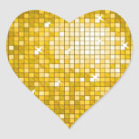 "Disco Tiles ""Gold"" sticker heart"