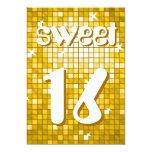 "Disco Tiles ""Gold"" Sweet 16 invitation amelia text 5"" X 7"" Invitation Card"