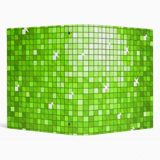Disco Tiles Green ring binder
