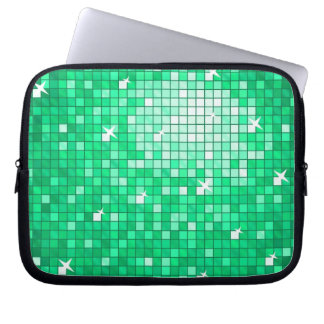 Disco Tiles Jade laptop sleeve 10 inch