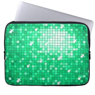 Disco Tiles Jade laptop sleeve 13 inch