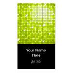 Disco Tiles Lime business card black portrait