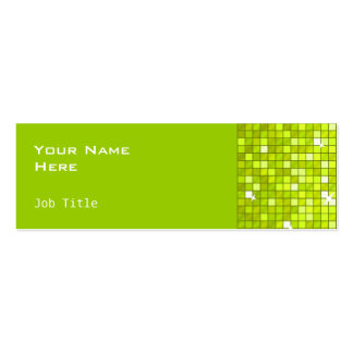 Disco Tiles Lime business card side skinny