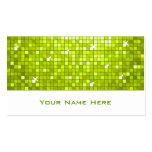 Disco Tiles Lime business card white
