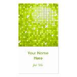 Disco Tiles Lime business card white portrait