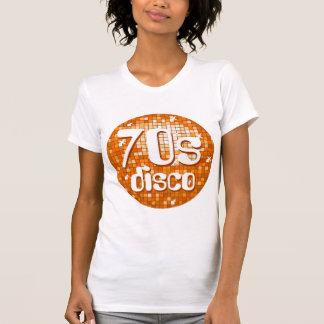 Disco Tiles Orange '70s Disco' ladies petite white T-Shirt