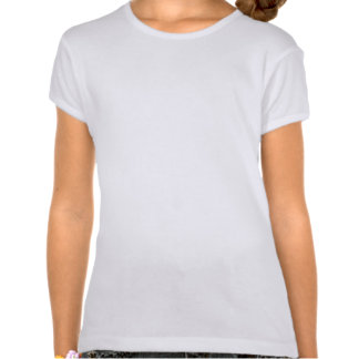 Disco Tiles Orange 'Your Text' round girls fitted Shirt