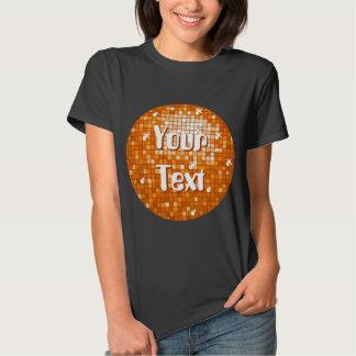 Disco Tiles Orange Your Text  t-shirt black