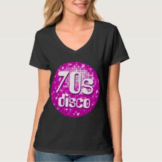 Disco Tiles Pink '70s Disco' v-neck T-Shirt