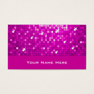 Disco Tiles Pink business card
