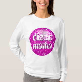 Disco Tiles Pink 'disco mama' ladies long sleeve T-Shirt