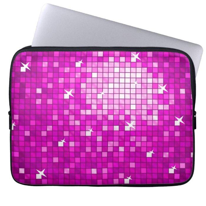 Disco Tiles Pink laptop sleeve 13 inch