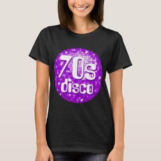 Disco Tiles Purple '70s Disco' t-shirt black