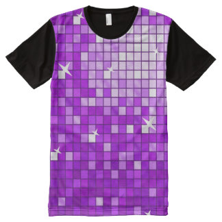 Disco Tiles Purple all over t-shirt